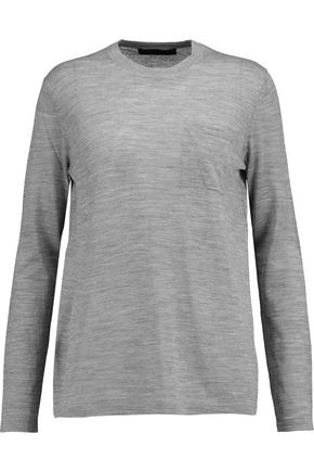ALEXANDER WANG Merino wool and silk-blend top