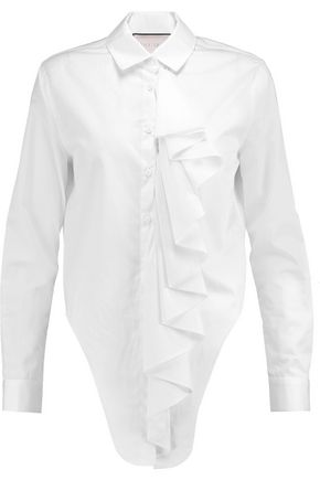 ALEXIS Kinley ruffled cotton-poplin shirt