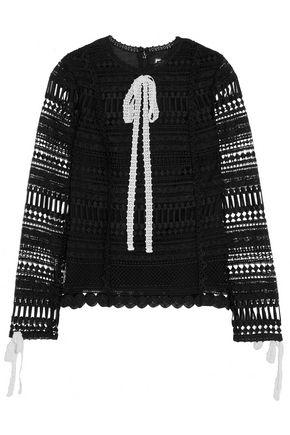 ALEXIS Orson paneled guipure lace top
