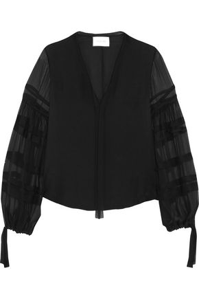 ALEXIS Pirro silk-chiffon blouse