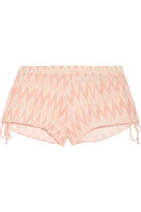 EBERJEY Morgan printed voile shorts
