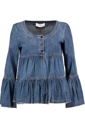 ROBERT RODRIGUEZ Ruffled denim blouse
