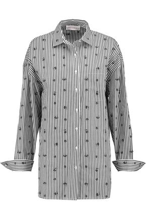 ROBERT RODRIGUEZ Embroidered striped cotton shirt