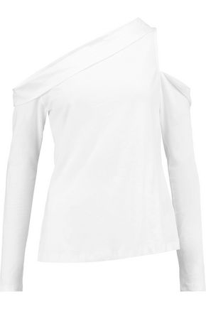 ROBERT RODRIGUEZ One-shoulder cutout cotton-jersey top