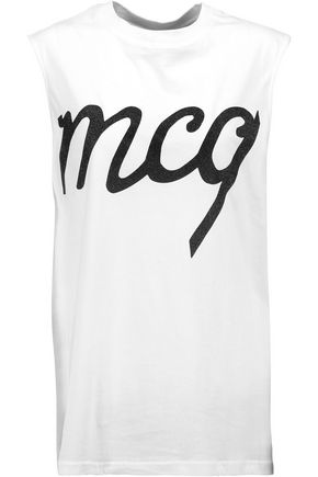 McQ Alexander McQueen Appliquéd cotton top