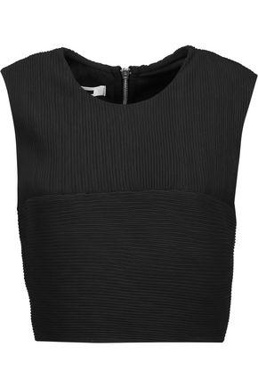 McQ Alexander McQueen Cropped plissé crepe top