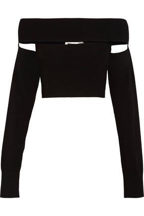 McQ Alexander McQueen Off-the-shoulder stretch-knit top