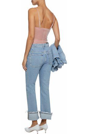 FLEUR DU MAL Velvet thong bodysuit