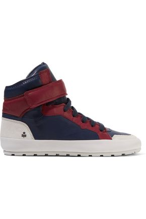 ISABEL MARANT Bessy Hip Hop suede-trimmed leather high-top sneakers