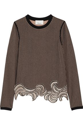 3.1 PHILLIP LIM Embellished embroidered striped top