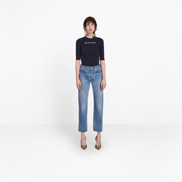 BALENCIAGA Denim Woman Standard Jeans g