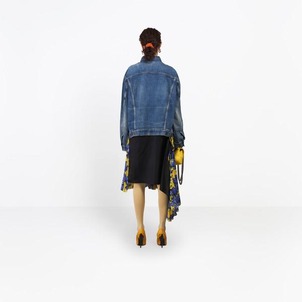 BALENCIAGA Denim Woman Cut Waistband Jacket h
