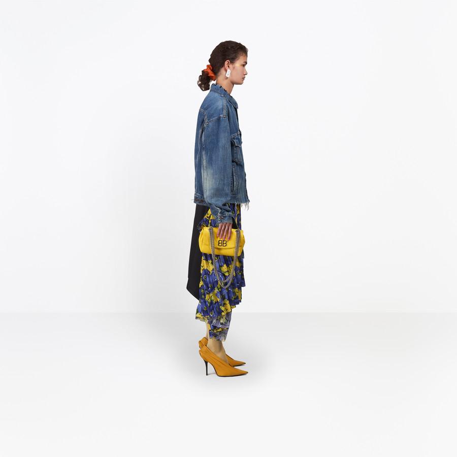 BALENCIAGA Cut Waistband Jacket Denim Woman i