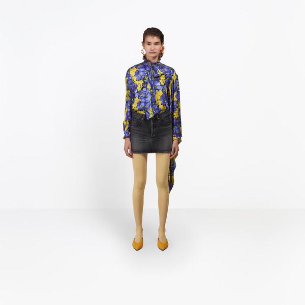 BALENCIAGA Denim Woman Denim Mini Skirt g