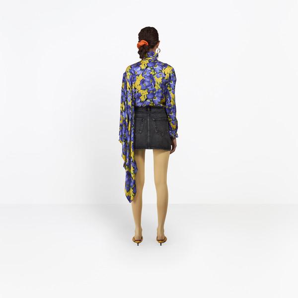 BALENCIAGA Denim Woman Denim Mini Skirt h