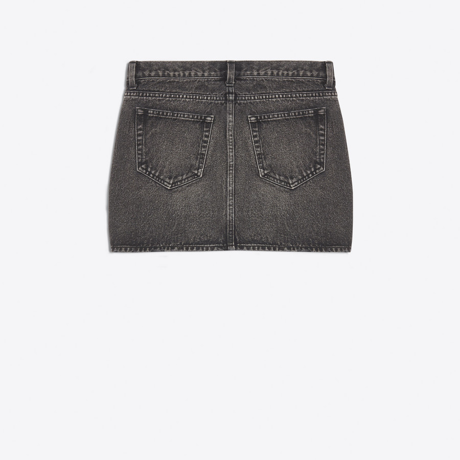 BALENCIAGA Denim Mini Skirt Denim Woman d