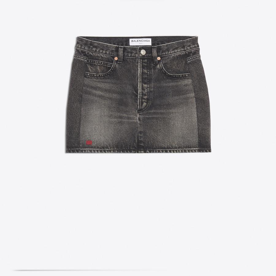 BALENCIAGA Denim Mini Skirt Denim Woman f