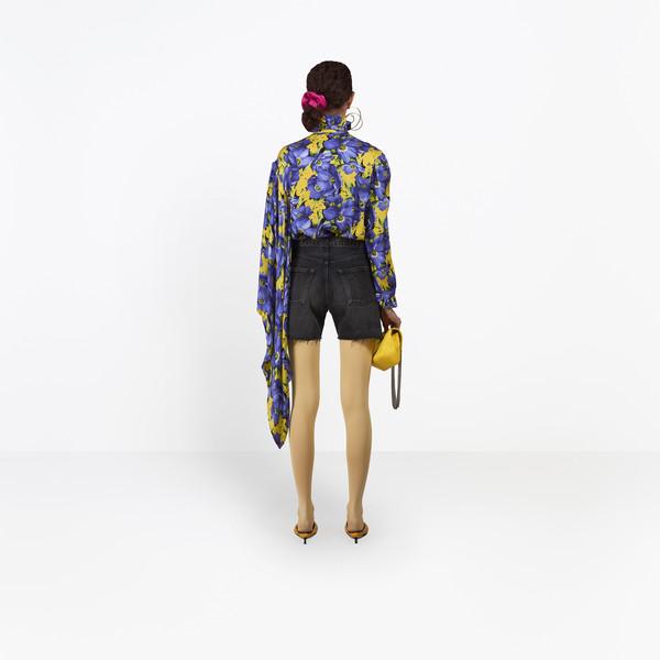 BALENCIAGA Denim Woman Standard Shorts h