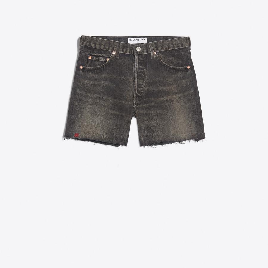 BALENCIAGA Standard Shorts Denim Woman f