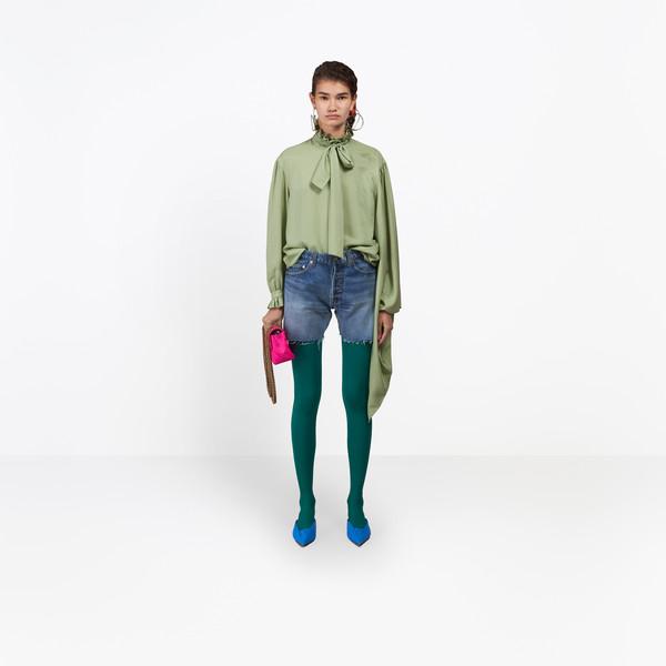 BALENCIAGA Denim Woman Standard Shorts g