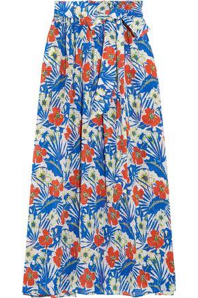 ETRO Floral-print silk-jacquard maxi skirt