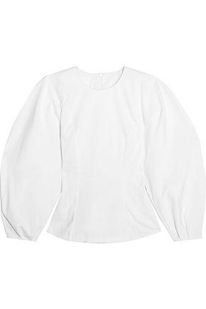 A.W.A.K.E. Cotton-blend poplin top