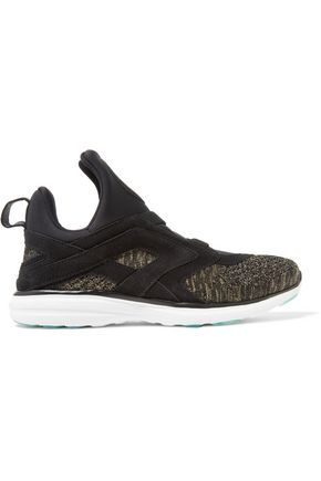 APL® ATHLETIC PROPULSION LABS Cielo suede-trimmed neoprene and knitted sneakers