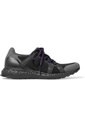 WOMAN ULTRA BOOST STRETCH-KNIT SNEAKERS BLACK
