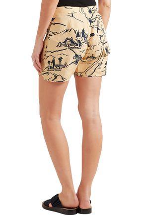 VICTORIA, VICTORIA BECKHAM Printed canvas shorts