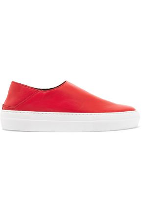 TIBI Charlie leather slip-on sneakers