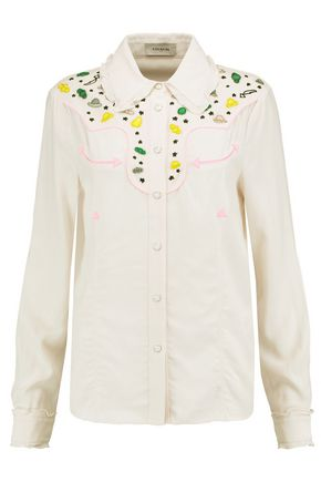 COACH Embellished crepe shirt