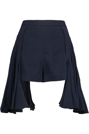 CHALAYAN Asymmetric crepe shorts