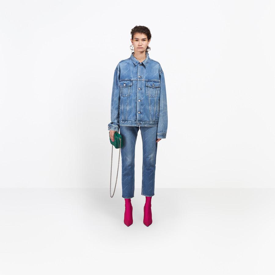 BALENCIAGA Standard Logo Jeans Denim Woman g