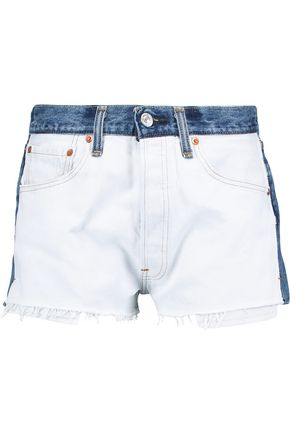 RE/DONE Levi's two-toned denim shorts