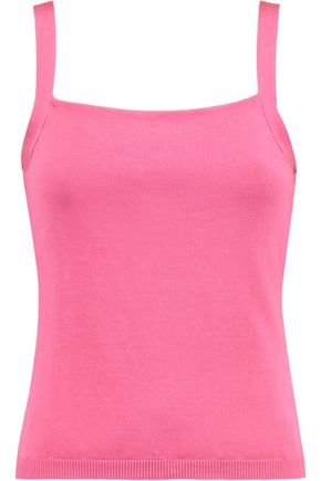 VALENTINO Silk and cotton-blend tank