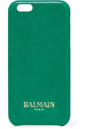 BALMAIN Printed leather iPhone 6 case