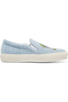 JOSHUA*S Embroidered denim slip-on sneakers