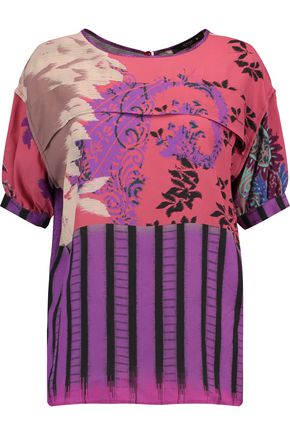 ETRO Printed crepe de chine top