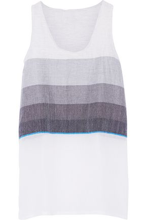 LEMLEM Debizaza striped cotton and wool-blend top