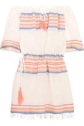 MASTER&MUSE x LEMLEM Elsi off-the-shoulder striped cotton-blend gauze mini dress