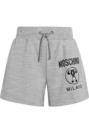 MOSCHINO Printed stretch-jersey shorts