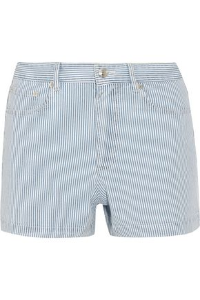 A.P.C. Standard striped cotton-blend shorts