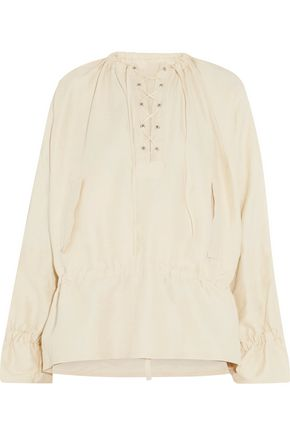 J.W.ANDERSON Lace-up canvas top