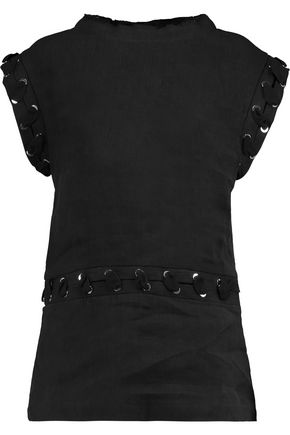 J.W.ANDERSON Eyelet-embellished textured linen and cotton-blend top