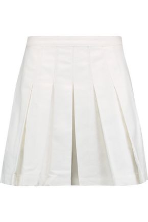ROBERT RODRIGUEZ Pleated cotton shorts