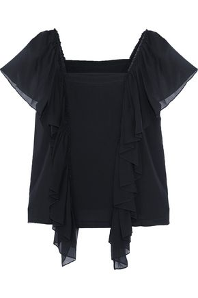 ROBERT RODRIGUEZ Ruffled silk top