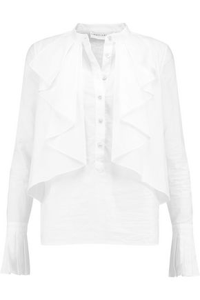 ROBERT RODRIGUEZ Ruffled cotton-voile shirt