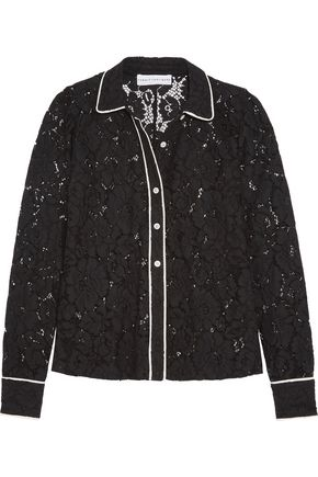 ROBERT RODRIGUEZ Corded lace shirt