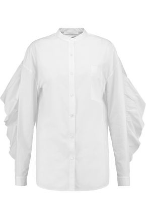 ROBERT RODRIGUEZ Ruffled cotton-poplin shirt