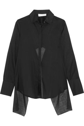 ROBERT RODRIGUEZ Ruffled cotton chiffon blouse